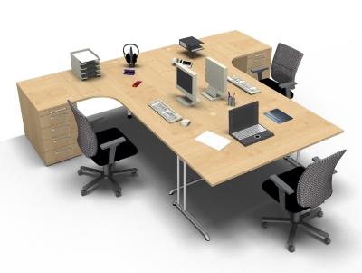 schreibtischarbeitsplatz b201 f r 3 personen vh b rom bel. Black Bedroom Furniture Sets. Home Design Ideas