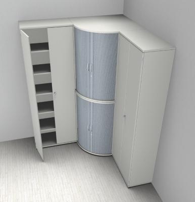 Büro Eck-Schrankwand TEN Kombination 3 - vh-büromöbel