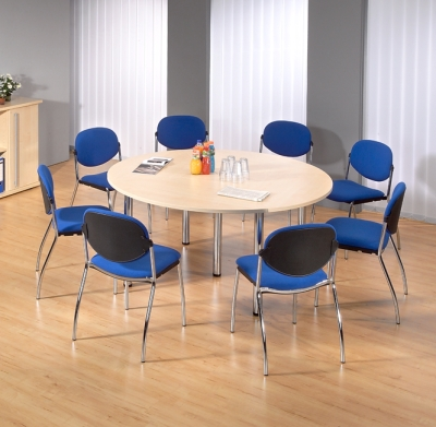 Konferenztisch rund Besprechungstisch Tisch 160 cm Seminartisch ...