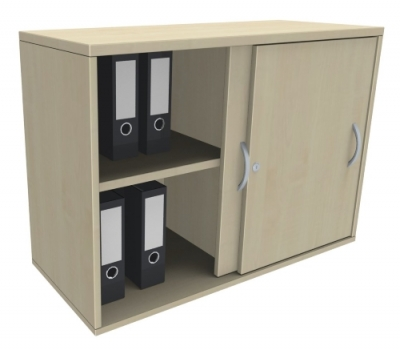 schiebet ren anstellschrank ten 2 oh 100 cm breit vh b rom bel. Black Bedroom Furniture Sets. Home Design Ideas