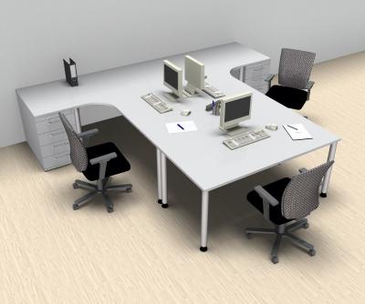 schreibtischarbeitsplatz h60 f r 3 personen vh b rom bel. Black Bedroom Furniture Sets. Home Design Ideas