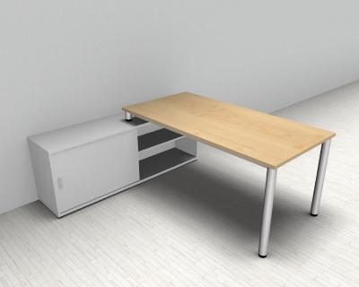 Sideboard Weiß mit Schreibtisch Hamburg - vh-büromöbel