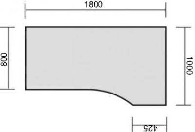pc schreibtisch mega c fu rechte seite vh b rom bel. Black Bedroom Furniture Sets. Home Design Ideas